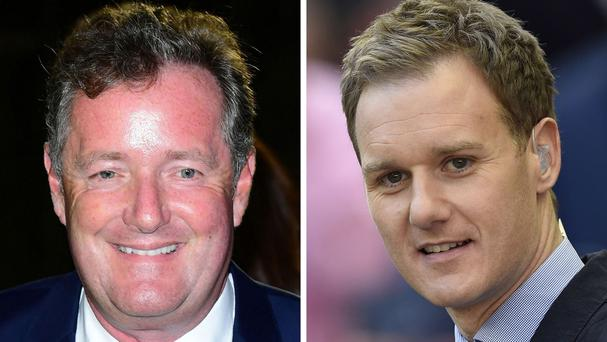 Piers Moran (left) and Dan Walker have been engaging in a Twitter row
