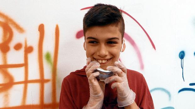 Negervan, a Syrian refugee living in Bristol, appears in the CBBC programme My Life: New Boys In Town (BBC/Drummer TV/PA Wire)