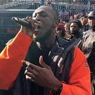 Grime MC Stormzy performs at a free gig in Castlehaven Park, London, on the day he released his debut album