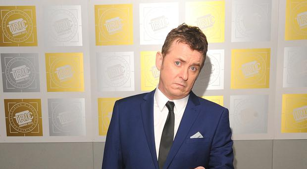 Shane Richie, without a hat, at an awards ceremony