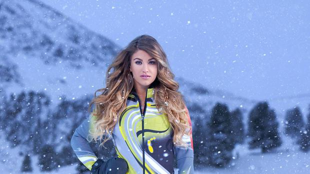 Amy Willerton is one of many celebrities to take a tumble on The Jump (Channel 4/PA Wire)