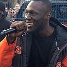 Grime artist Stormzy performed at a free gig in London on the day he released his debut album