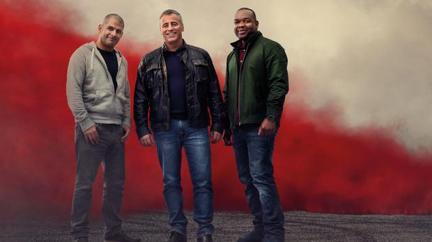 Matt LeBlanc will team up with Chris Harris, left, and Rory Reid, right, when Top Gear returns for another series next month