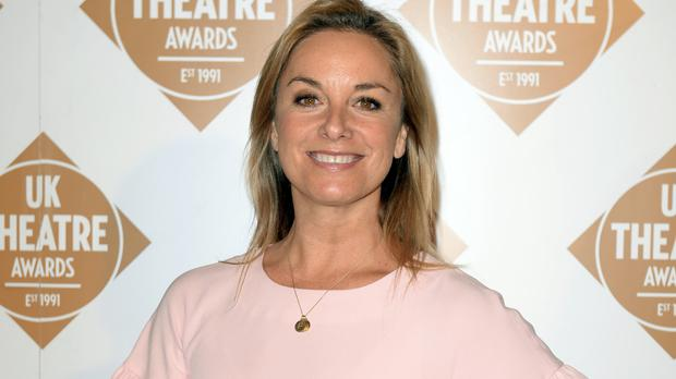 Tamzin Outhwaite has been forced to pull out of Stepping Out temporarily