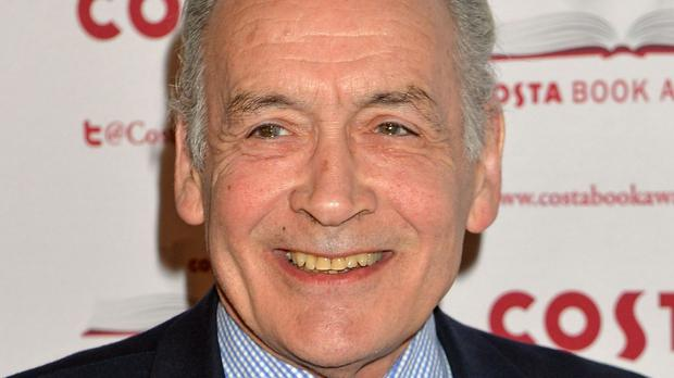 Presenter Alastair Stewart faced strong competition for attention when toddler Sol got bored and ran about the TV studio