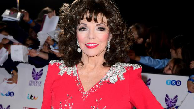 Dame Joan Collins plays an aged Hollywood star in her new film The Time Of Their Lives