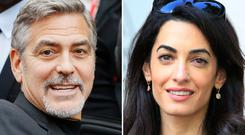 File photos of George and Amal Clooney, as Human Rights lawyer Amal Clooney has revealed she is happy to receive extra publicity because of her marriage if it helps shine a light on certain issues.