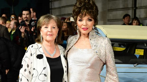 Pauline Collins (left) and Dame Joan Collins attending The world Premiere of The Time of Their Lives at Curzon Mayfair, London.