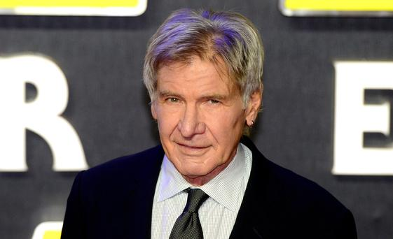 File photo dated 16/12/2015 of Harrison Ford, as a film production company is to be sentenced over health and safety breaches after the Hollywood star was crushed by a hydraulic door on the set of the Millennium Falcon spaceship while filming the latest Star Wars movie.