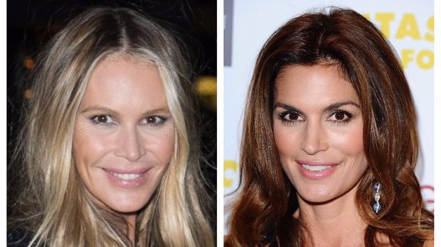 Cindy Crawford and Elle Macpherson (PA)