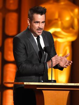 Irish actors Colin Farrell (pictured) and Saoirse Ronan were among the guests at the ninth annual Governors Awards in Los Angeles at the weekend Photo: Getty