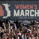 Thousands of people atttend the Women's March in Los Angeles (Jae C. Hong/AP)