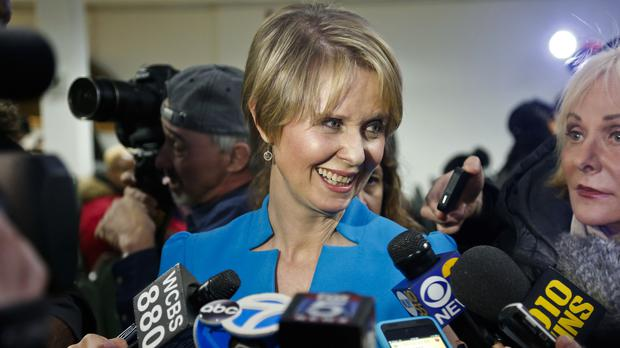 Candidate for New York governor Cynthia Nixon (Bebeto Matthews/AP)