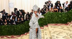 Rihanna arrives at the Met gala (Ian West/PA)