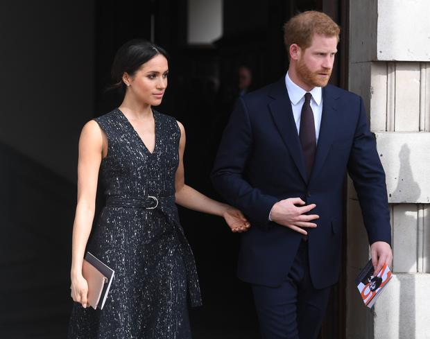 Britain's Prince Harry and Meghan Markle (Victoria Jones/PA)