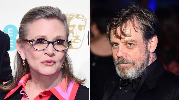 Carrie Fisher and Mark Hamill (Ian West/'PA)