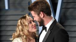 Miley Cyrus praised Liam Hemsworth after the California wildfires (PA)
