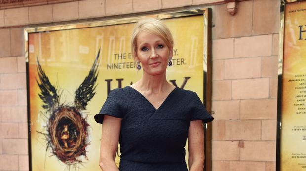 JK Rowling sparked speculation another Harry Potter film was in the works after posting a cryptic tweet about the stage play follow-up to her hugely popular books (Yui Mok/PA)