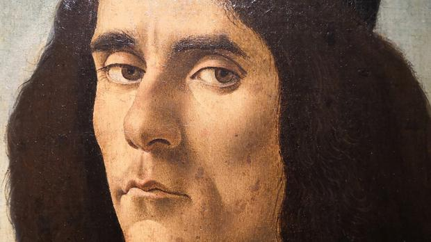 Part of a portrait of Michele Marrulo by artist Sandro Botticelli (James Books/AP)