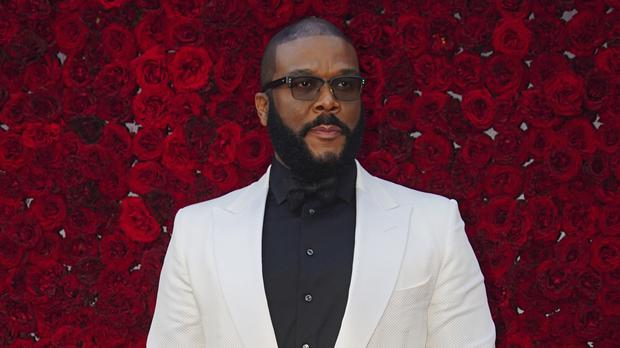 Tyler Perry on the red carpet at the grand opening of Tyler Perry Studios (Elijah Nouvelage/Invision/AP)