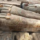 This photo provided by the Egyptian Ministry of Antiquities shows recently discovered ancient coloured coffins (AP)