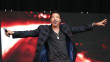 Lionel Richie performing on the Pyramid stage at Glastonbury