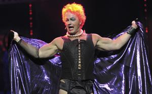 Craig McLachlan performs as Frank N Furter during a media call for The Rocky Horror Show (Julian Smith/AAP Image via AP)