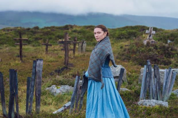 First picture of Florence Pugh from the new Netflix film The Wonder, which has started shooting in Dublin and Wicklow.