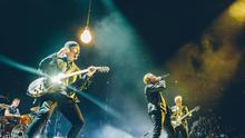 U2 play at Turin's Pala Alpitour Arena as the band kicks off the European leg of their Innocence and Experience tour
