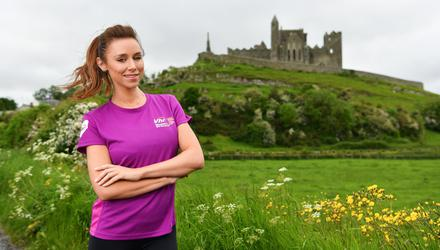 Musician and radio presenter Una Healy, pictured at the Rock of Cashel in Tipperary, is calling on women all around the country to join her and take part in this year Vhi Virtual Women's Mini Marathon. Register now at www.vhiwomensminimarathon.ie. Photo by Diarmuid Greene/Sportsfile