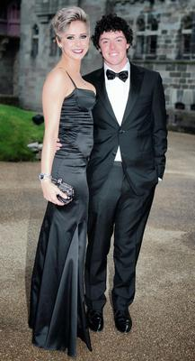 Rory at the welcome dinner in Cardiff for the 2010 Ryder Cup with his former girlfriend Holly Sweeney