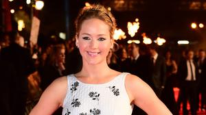 Jennifer Lawrence has been saved from a crowd of fans who rushed at her