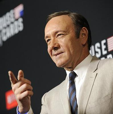 Kevin Spacey arrives at a special screening for season two of House of Cards in Los Angeles (AP)