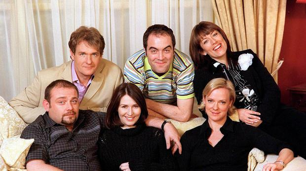 James Nesbitt with the cast of Cold Feet. (ITV/PA)