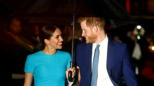 Britain's Prince Harry and his wife Meghan, Duchess of Sussex, arrive at the Endeavour Fund Awards in London, Britain, March 5, 2020. REUTERS/Hannah McKay/File Photo/File Photo
