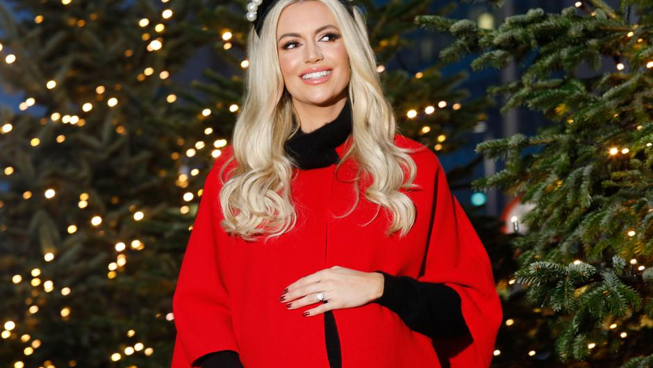 Rosanna Davison shares how she survived Christmas with three babies under the age of two. Photo by: Leon Farrell / Photocall Ireland