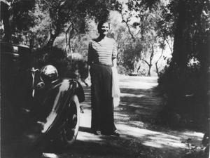 Gabrielle Chanel at her house 'La Pausa' in the French Riviera in 1930