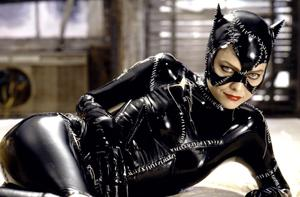 Catwoman's feline face covering was stunning, despite Michelle Pfeiffer's admission that the latex mask both crushed her face and choked her