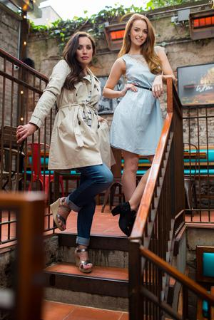 Left: Trench, €24.99; jeans, €13.99; wedges, €12.99, all at Lidl, see lidl.ie