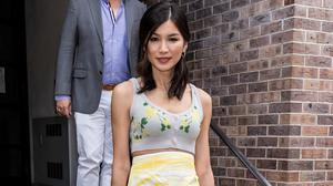 Gemma Chan was seen with Boyy's Insta-favourite leather tote during a recent press tour, illustrating how well a retro bag can be refreshed with a statement detail such as Boyy's signature oversized buckle. Photo: GC Images