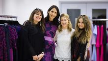 Niamh O'Neill with fellow designers Caroline Mitchell, Sarah Murphy and Sara O'Neill at the CIFD show. Photo: Siobhan Hennessy