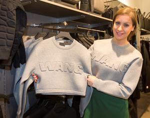 Gillian Fitzpatrick with some of the new Alexander Wang collection by H&M on South King Street Dublin
