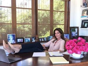 Cindy Crawford's work-from-home outfit