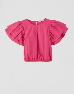 4. Pink blouse, €17.99, Pull and Bear