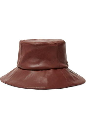 Leather bucket hat, €125, Clyde at net-a-porter.com