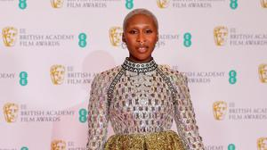 Cynthia Erivo arrives for the Baftas at the Royal Albert Hall in London. Photo: Ian West/PA Wire
