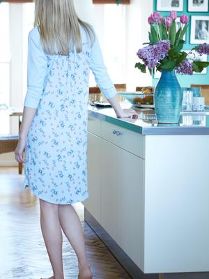 Eva nightshirt in light blue with print back, €30