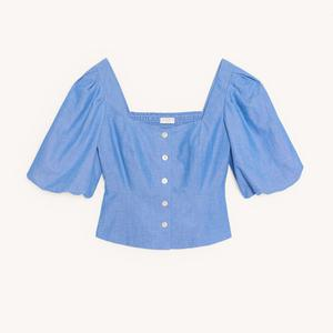 11. Cropped blouse, €175, Sandro