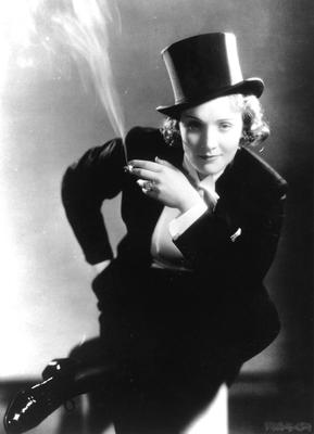Suits you, ma'm: Marlene Dietrich in 'Morocco'.