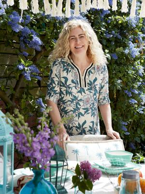 Carolyn Donnelly wears mint leaf print dress, €89, The Edit SS15 collection